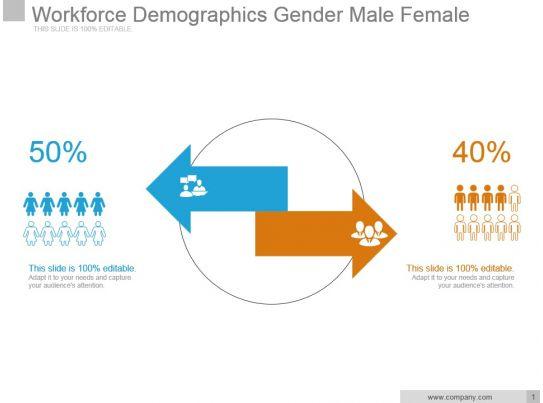 workforce demographics gender male female sample of ppt. Black Bedroom Furniture Sets. Home Design Ideas