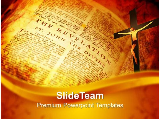 Worship Jesus Powerpoint Templates Open Bible Showing