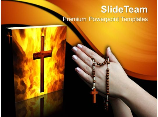 Cross symbol and bible with praying hands powerpoint templates ppt worship jesus powerpoint toneelgroepblik Images