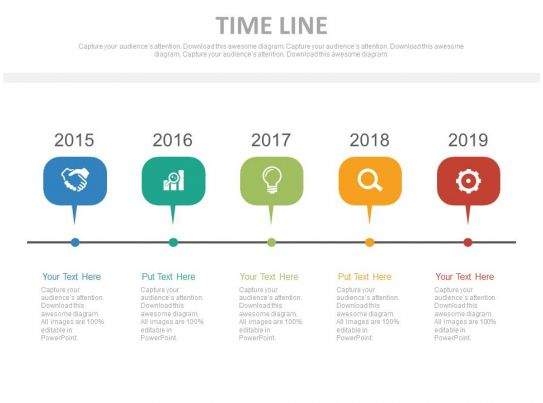 Year Based Timeline For Business Process Powerpoint Slides