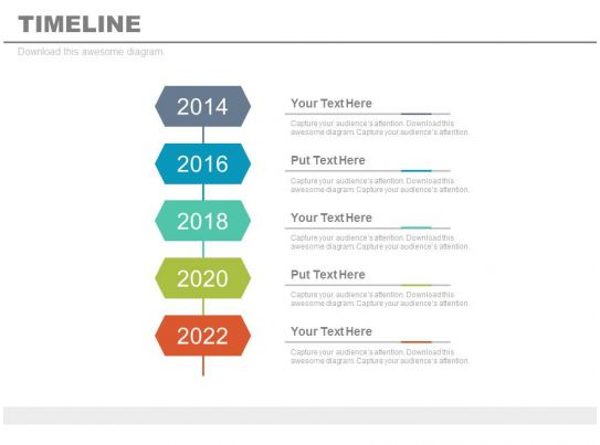 Year Based Vertical Timeline For Business Vision