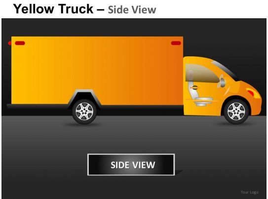 Semi Truck Side View Vector Yellow Truck Side View