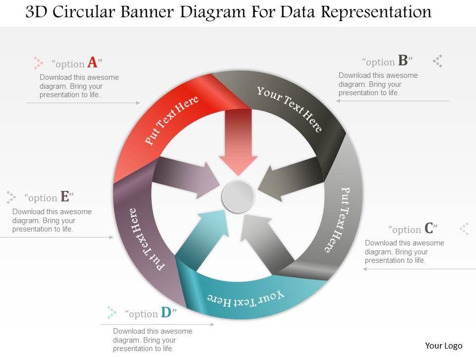 0115 3d Circular Banner Diagram For Data Representation Powerpoint