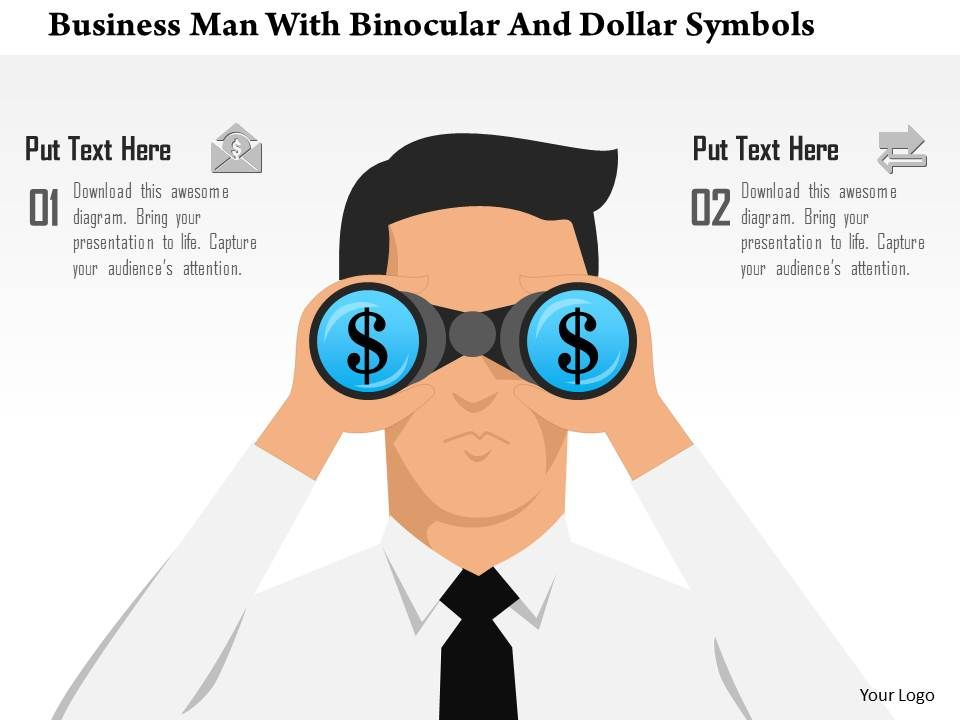 0115_business_man_with_binocular_and_dollar_symbols_powerpoint_template_Slide01