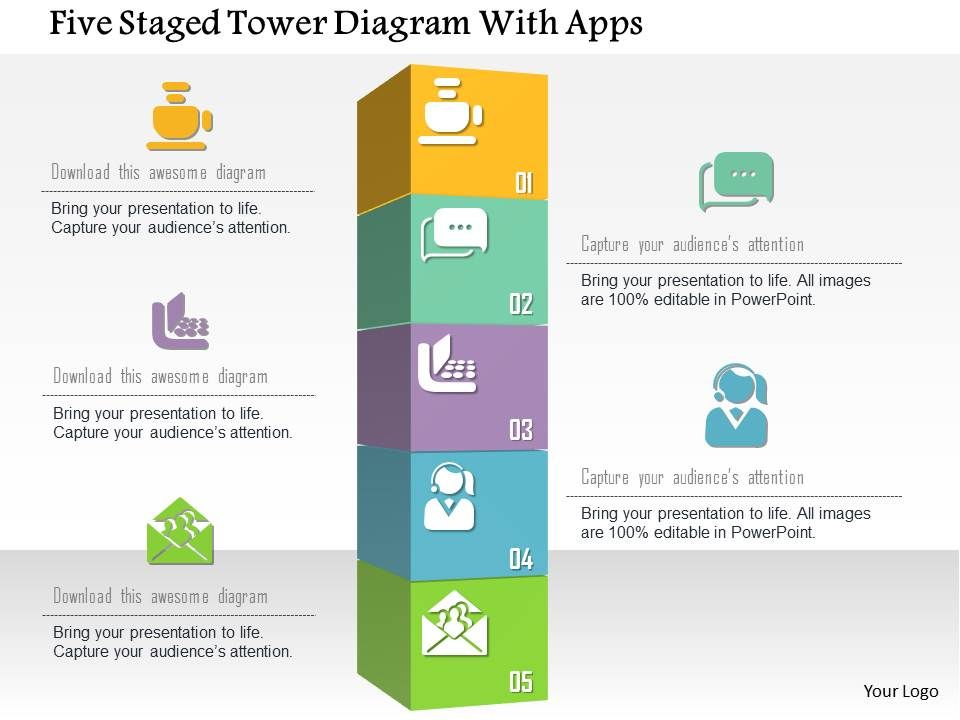 0115 five staged tower diagram with apps powerpoint template 0115fivestagedtowerdiagramwithappspowerpointtemplateslide01 0115fivestagedtowerdiagramwithappspowerpointtemplateslide02 toneelgroepblik Gallery