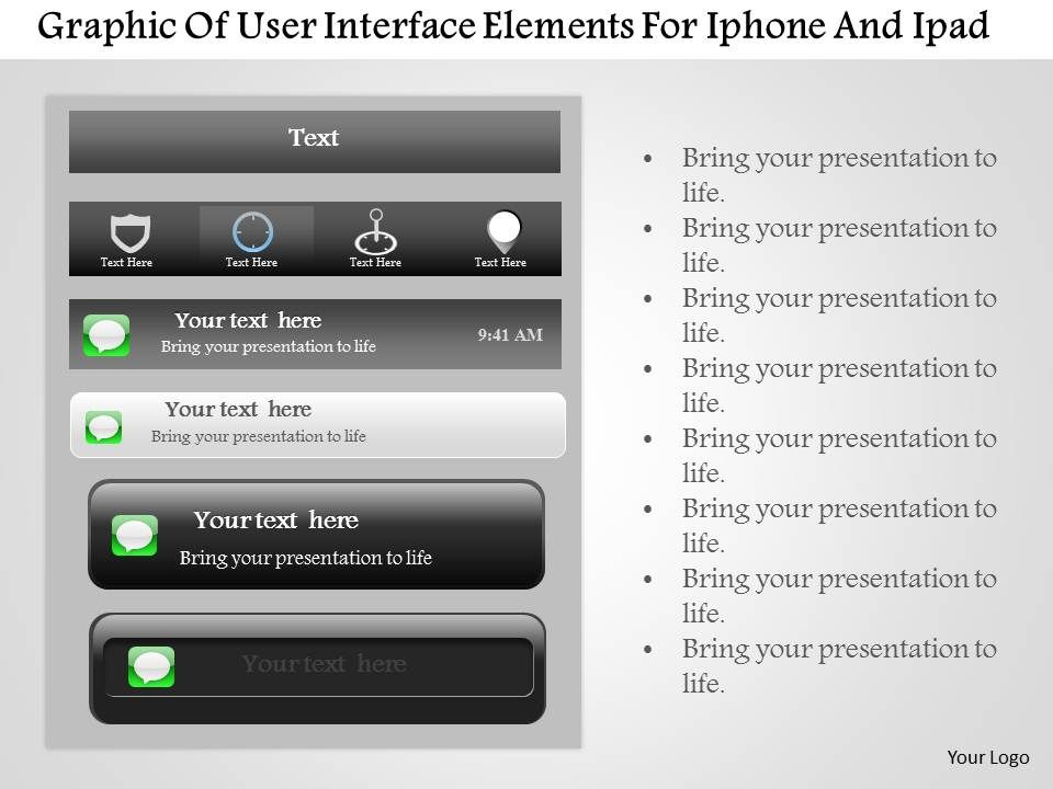 0115 Graphic Of User Interface Elements For Iphone And Ipad
