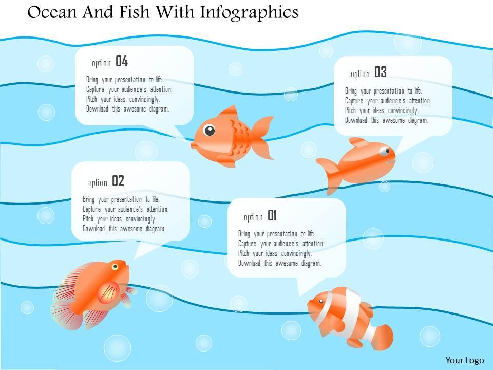0115 red fish leading black fishes powerpoint template, Modern powerpoint