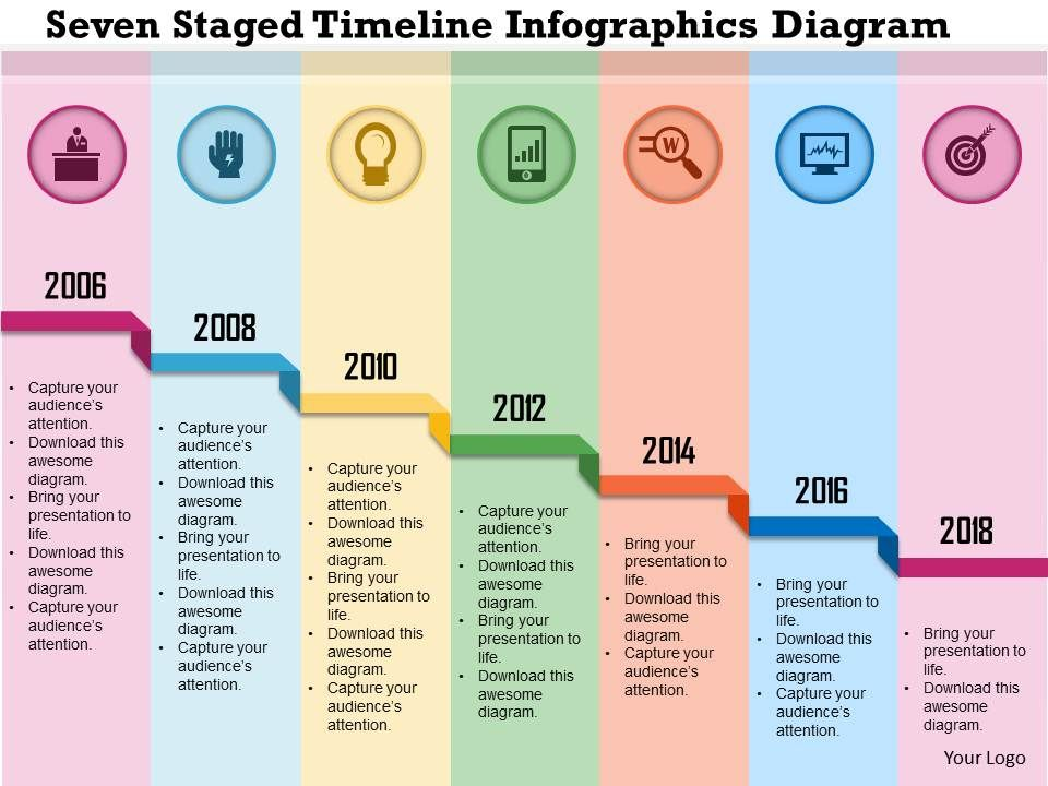 0115 Seven Staged Timeline Infographics Diagram Powerpoint ...