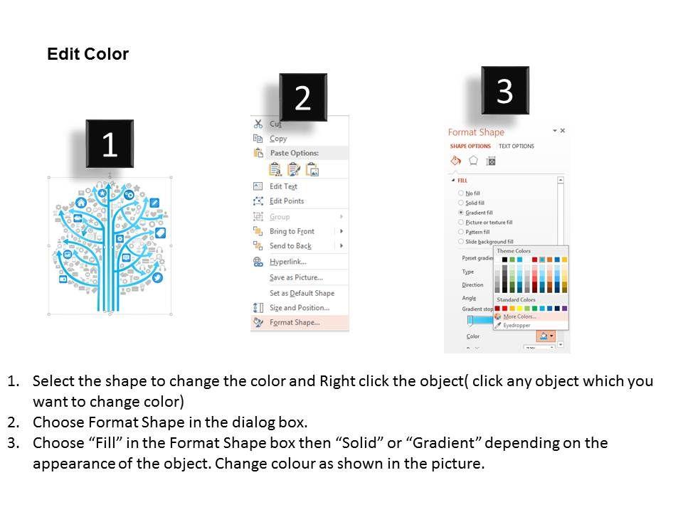 0115 social media technology tree showing various kinds of for Slide design outlet