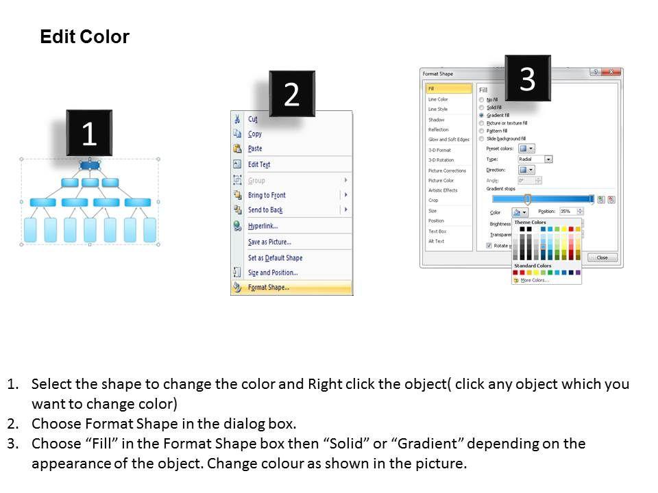 0115 three layered setting vision business framework diagram, Presentation templates