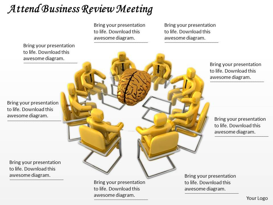 Attend Business Review Meeting Ppt Graphics Icons Powerpoint