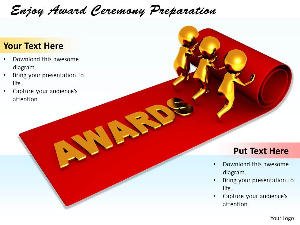 0214 enjoy award ceremony preparation ppt graphics icons, Presentation templates