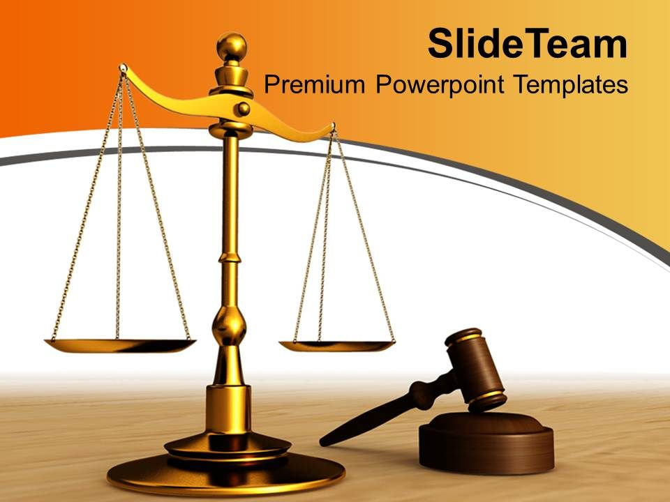 0313 Justice Found In Law Court Business Powerpoint