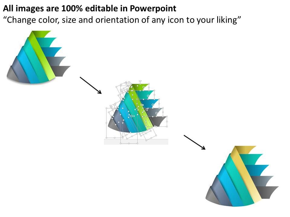 0314 Business Ppt Diagram 3d Cone Staircase 5 Steps Powerpoint Template Slide02