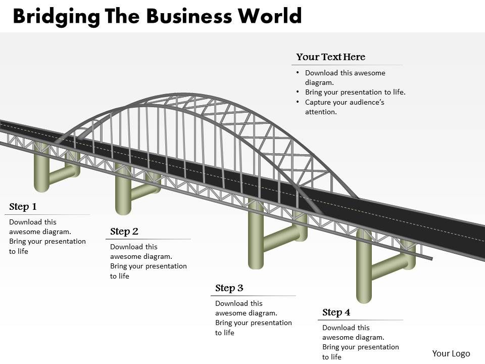 0314 business ppt diagram bridging the business world
