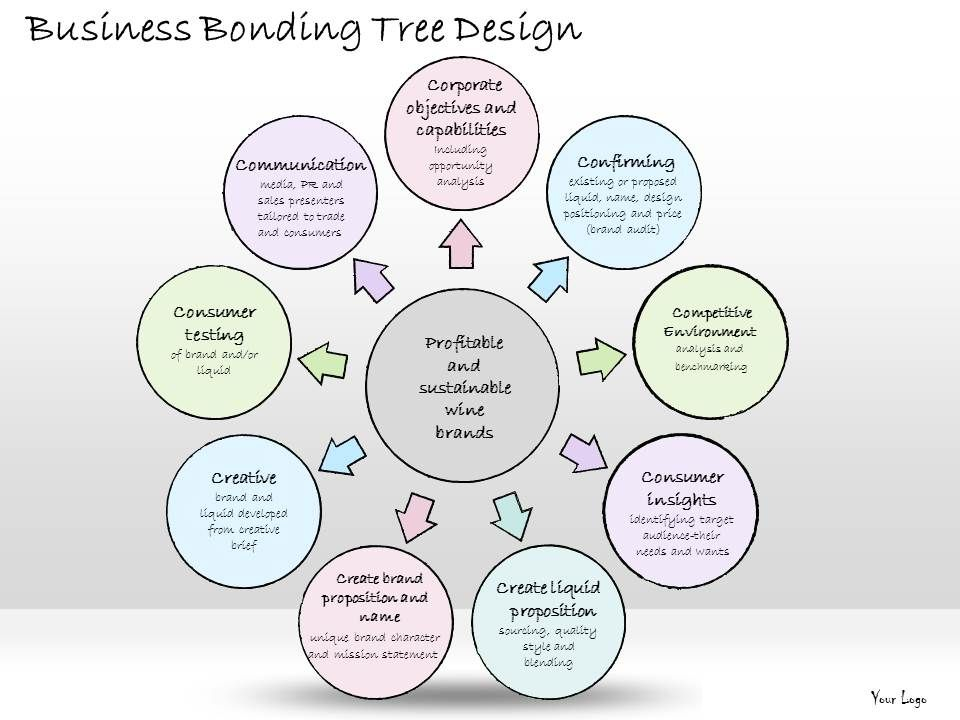 business_ppt_diagram_business_bonding_tree_design_powerpoint_templates ...