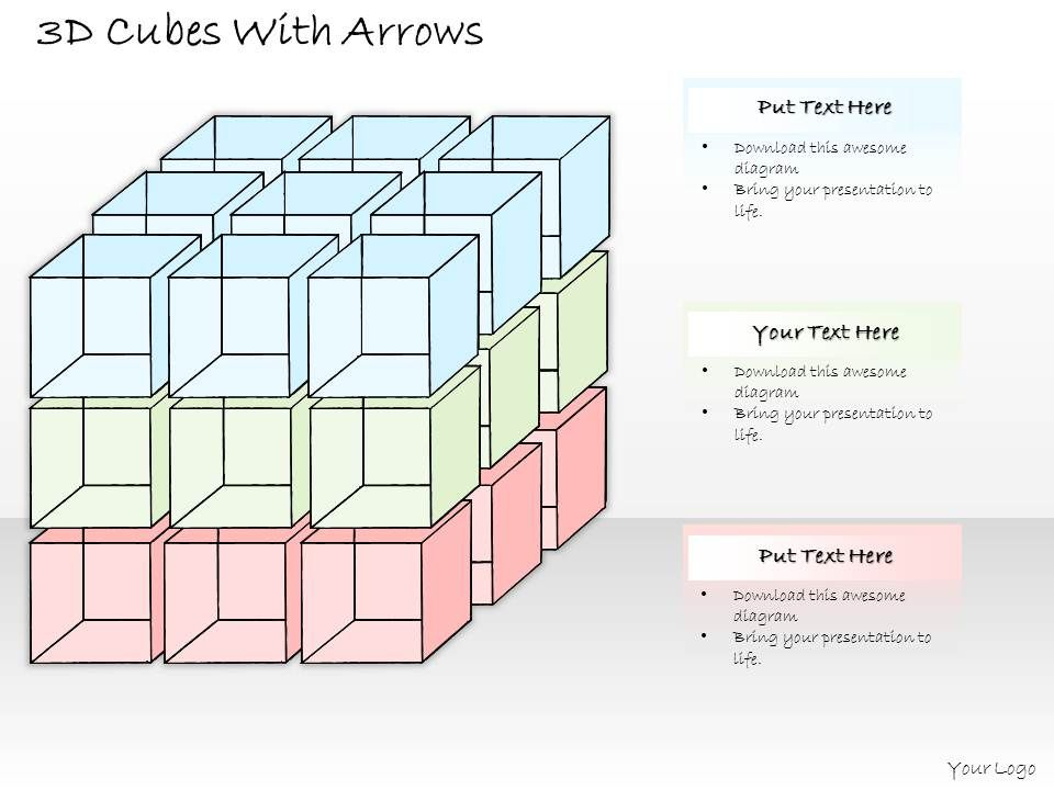 0314 business ppt diagram cubic complex business structure