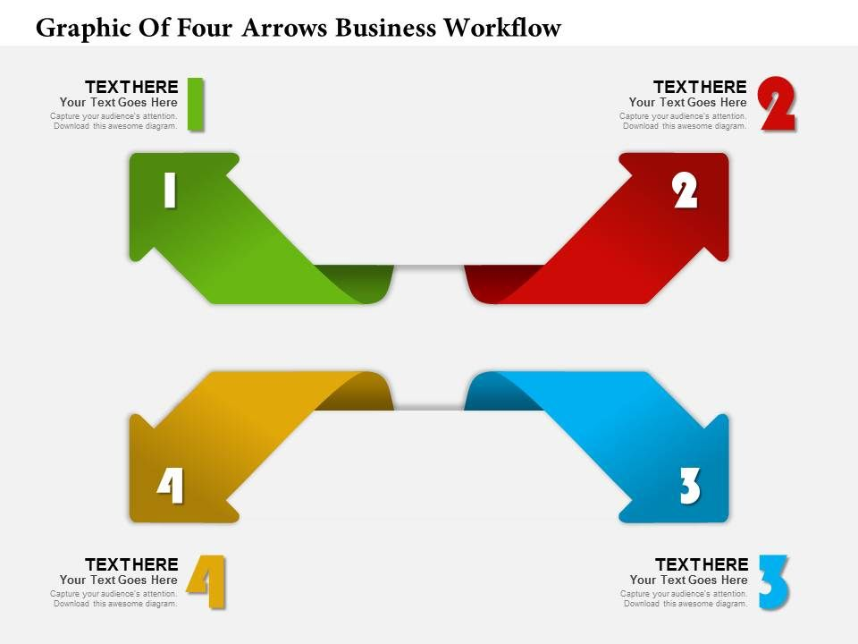 0314 Business Ppt Diagram Graphic Of Four Arrows Business Workflow