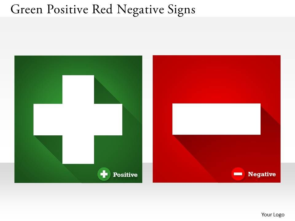 0314_business_ppt_diagram_green_positive_red_negative_signs_powerpoint_template_Slide01