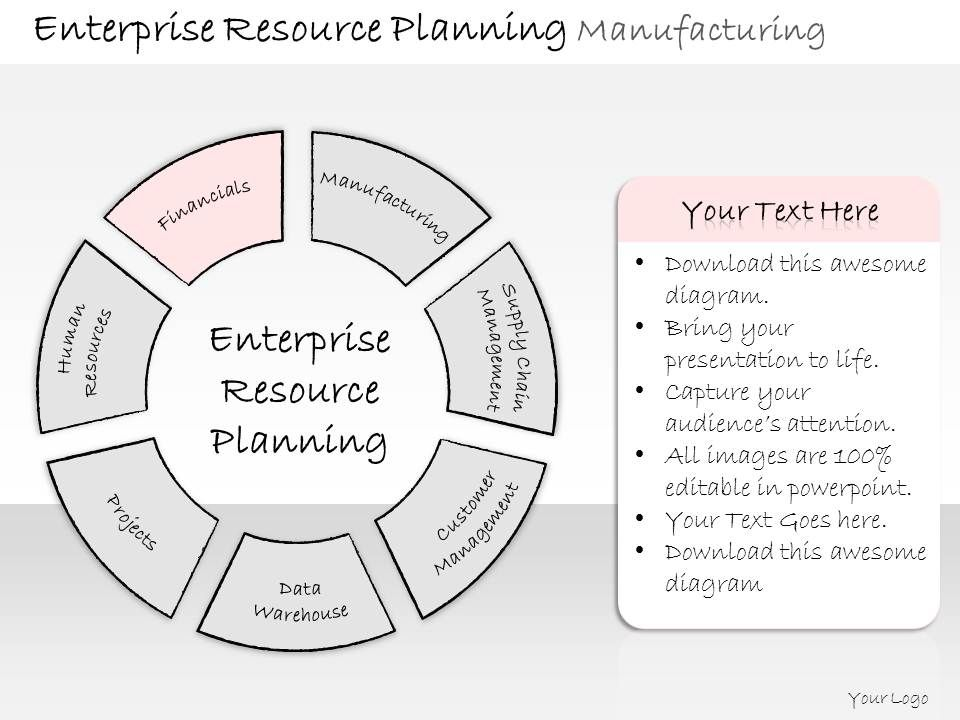 Business Ppt Diagram Layout For Enterprise Resource Planning