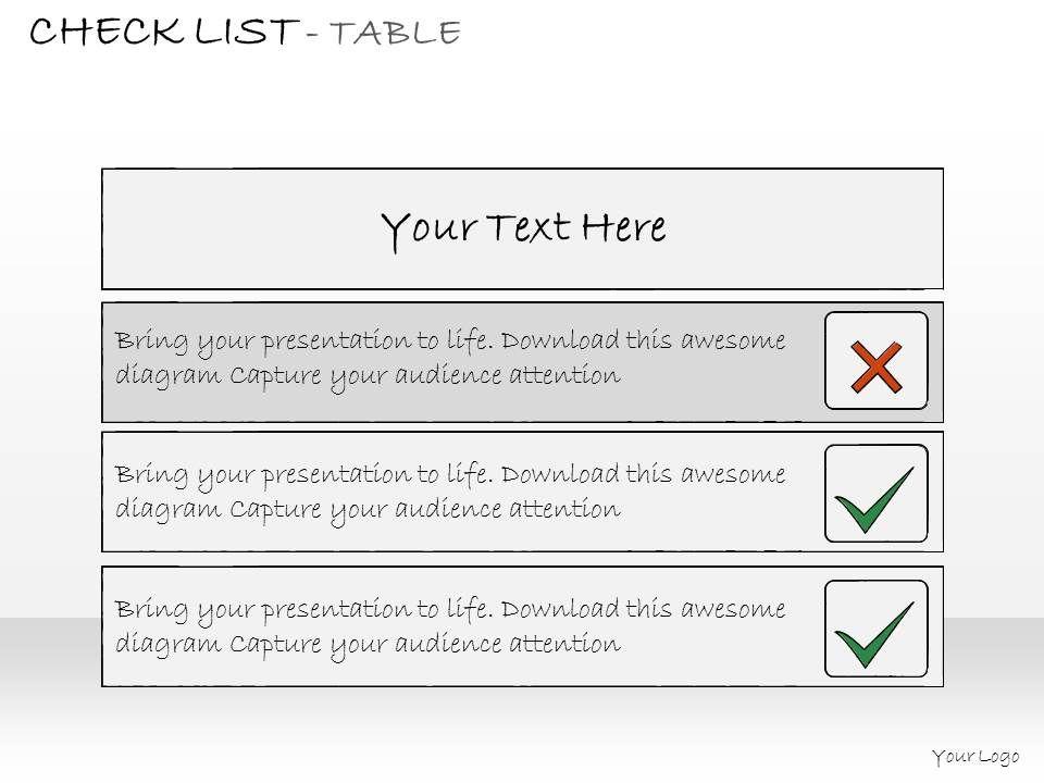 0314 Business Ppt Diagram Make Checklist Of Business Steps