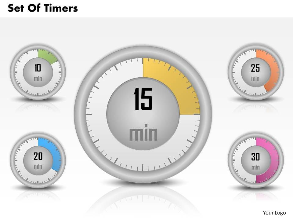 setting up a powerpoint template - 0314 business ppt diagram set of timers powerpoint