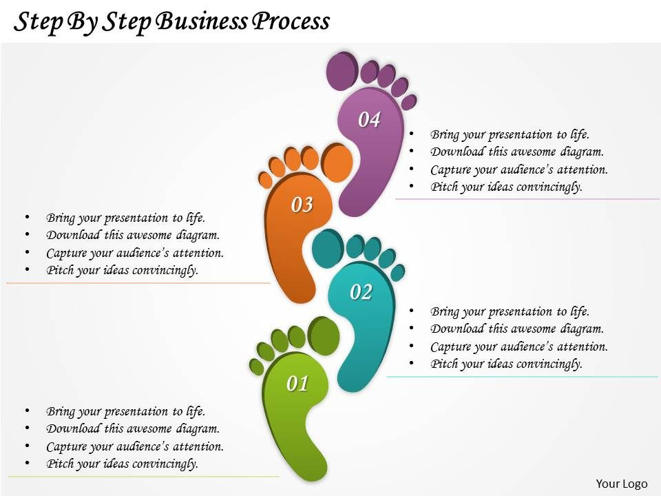 0314 business ppt diagram step by step business process