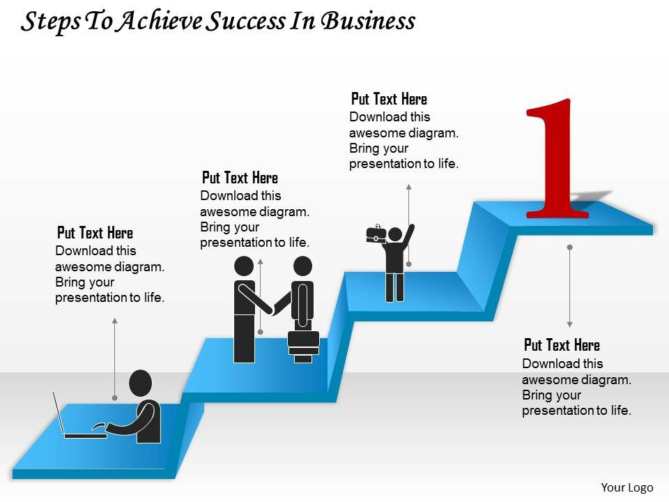 0314 business ppt diagram steps to achieve success in business, Presentation templates