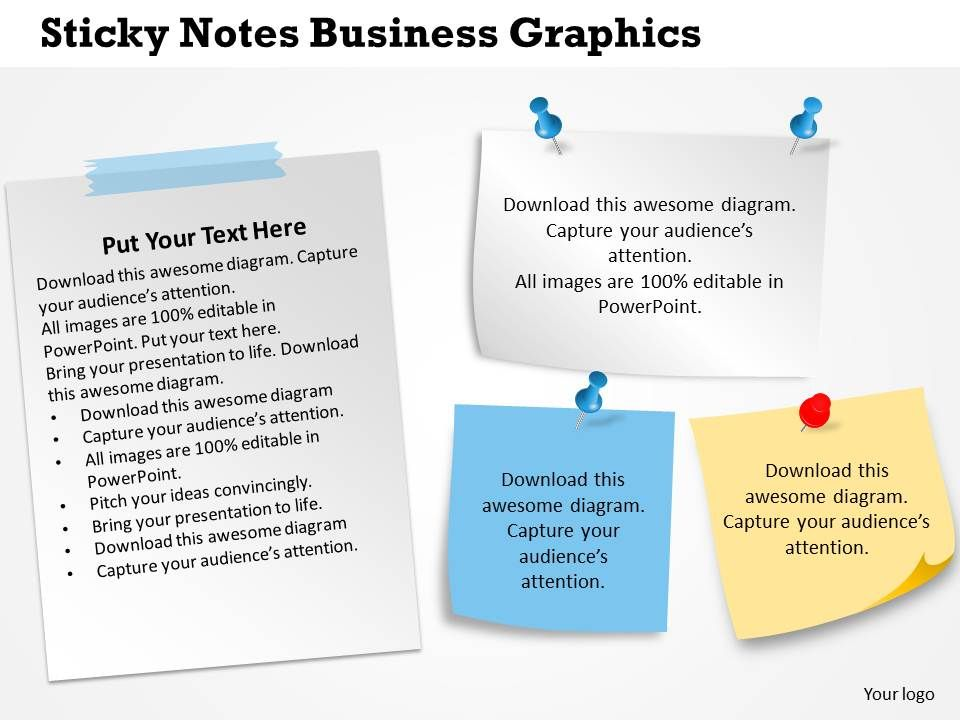 0314 Business Ppt Diagram Sticky Notes Business Graphics