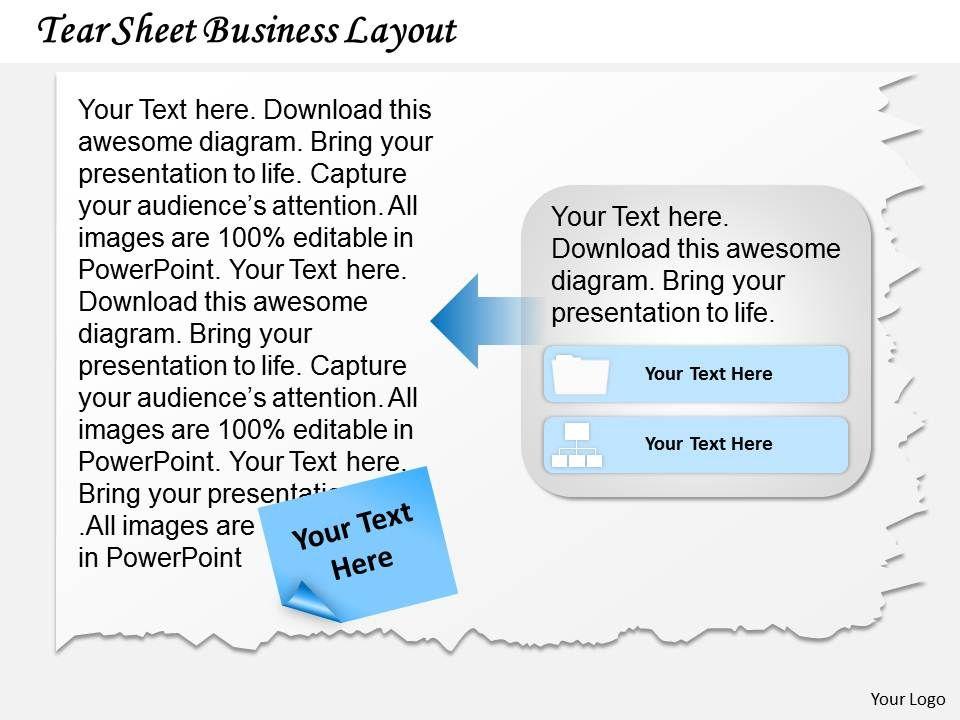 0314 Business Ppt Diagram Tear Sheet Layout Point Template Slide01