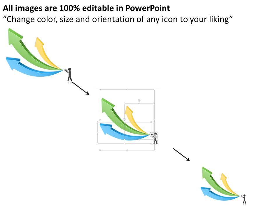 0314 business ppt diagram three arrows shows progress report of, Presentation templates