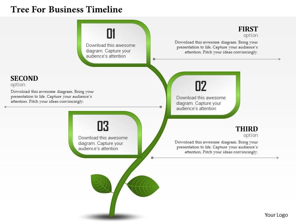 Business Ppt Diagram Tree For Business Timeline Powerpoint