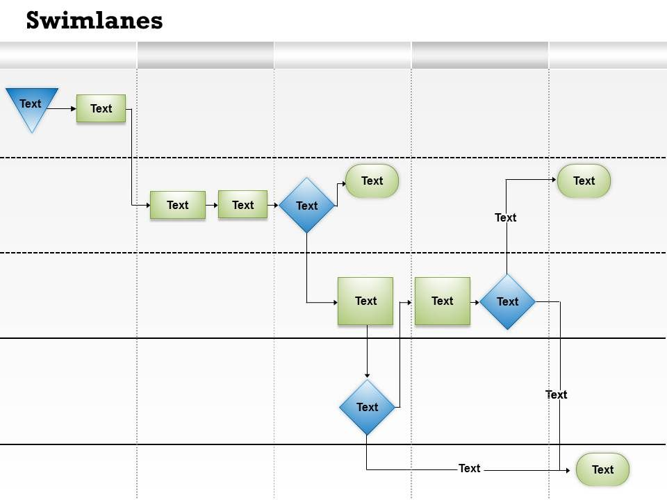 Swimlanes Powerpoint Templates Swimlane Ppt Templates Swimlane