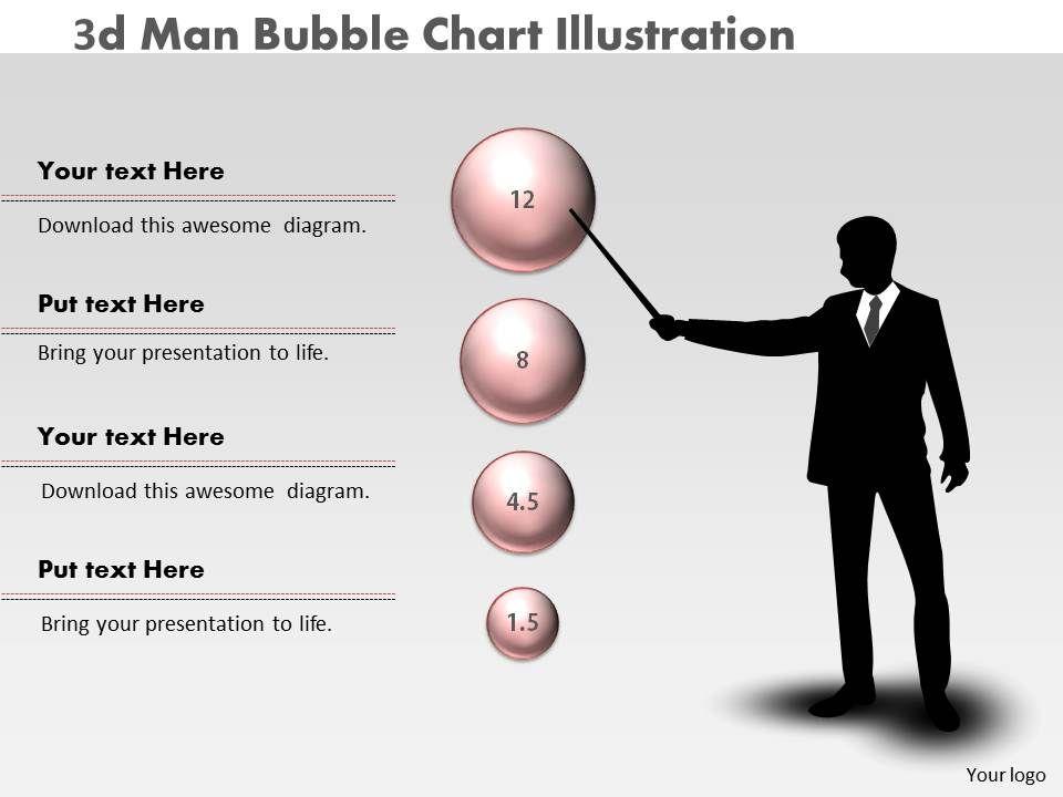 0414_3d_man_bubble_chart_illustration_powerpoint_graph_Slide01