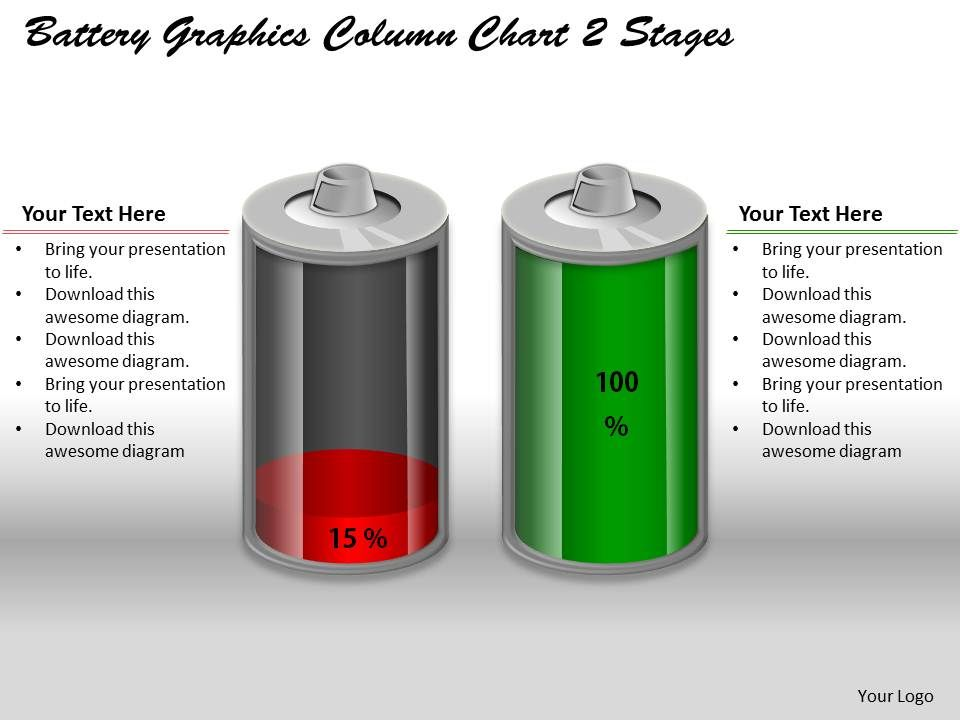 0414_battery_graphics_column_chart_2_stages_powerpoint_graph_Slide01