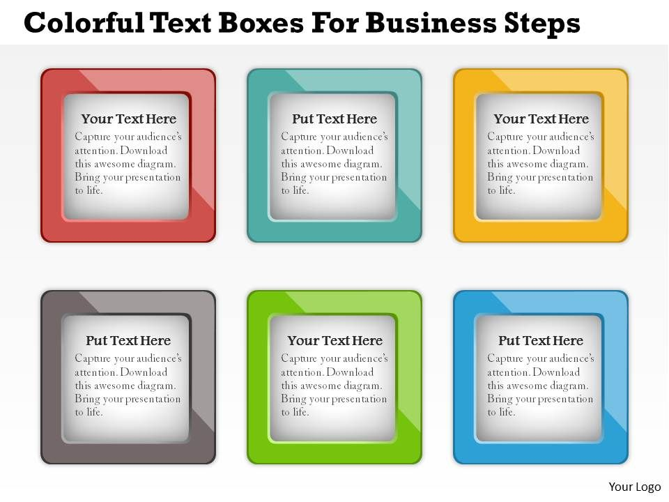 0414_business_consulting_diagram_colorful_text_boxes_for_business_steps_powerpoint_slide_template_Slide01
