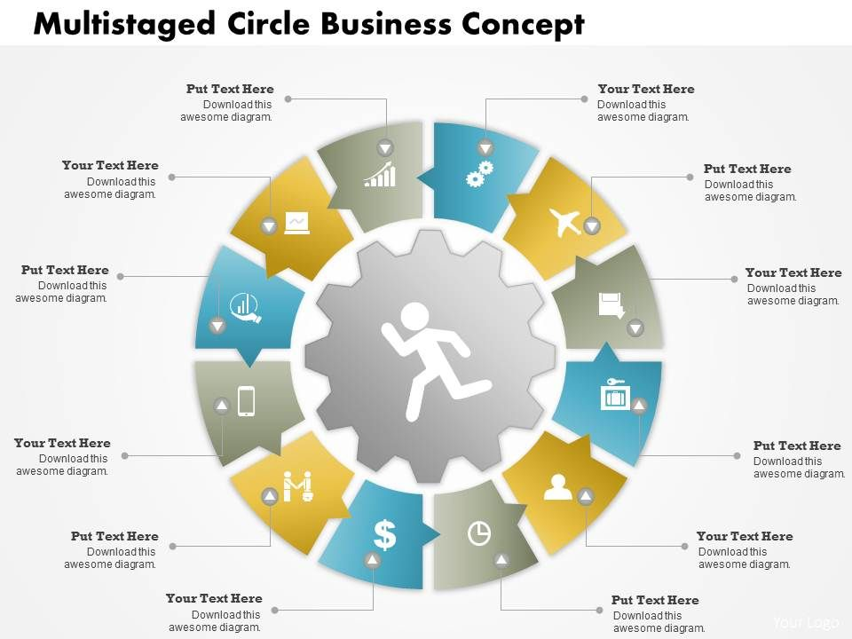0414 business consulting diagram multistaged circle business concept