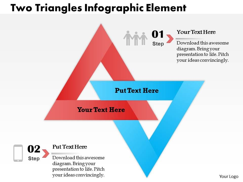0414 Business Consulting Diagram Two Triangles Infographic Element