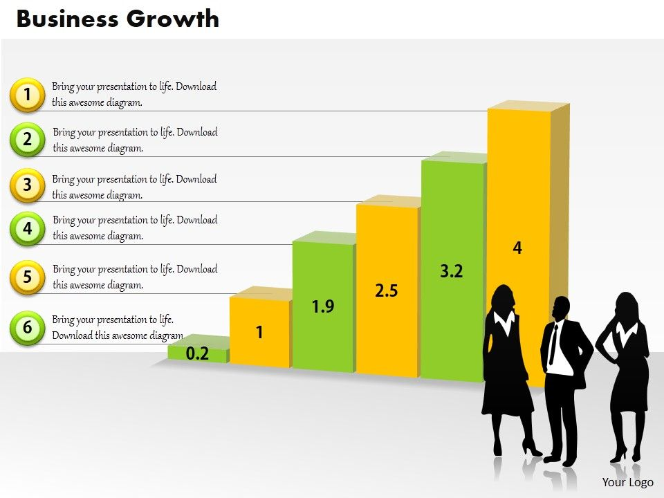 0414_business_team_with_growth_column_chart_powerpoint_graph_Slide01