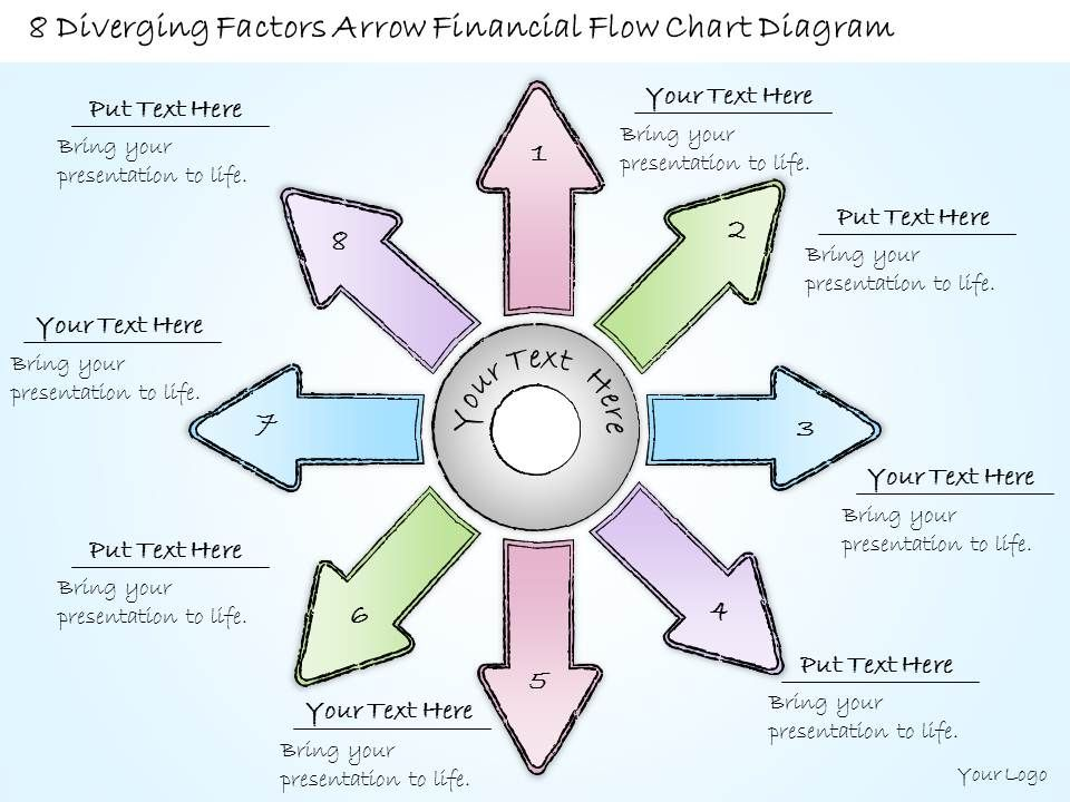 0414 Consulting Diagram 8 Diverging Factors Arrow Financial Flow