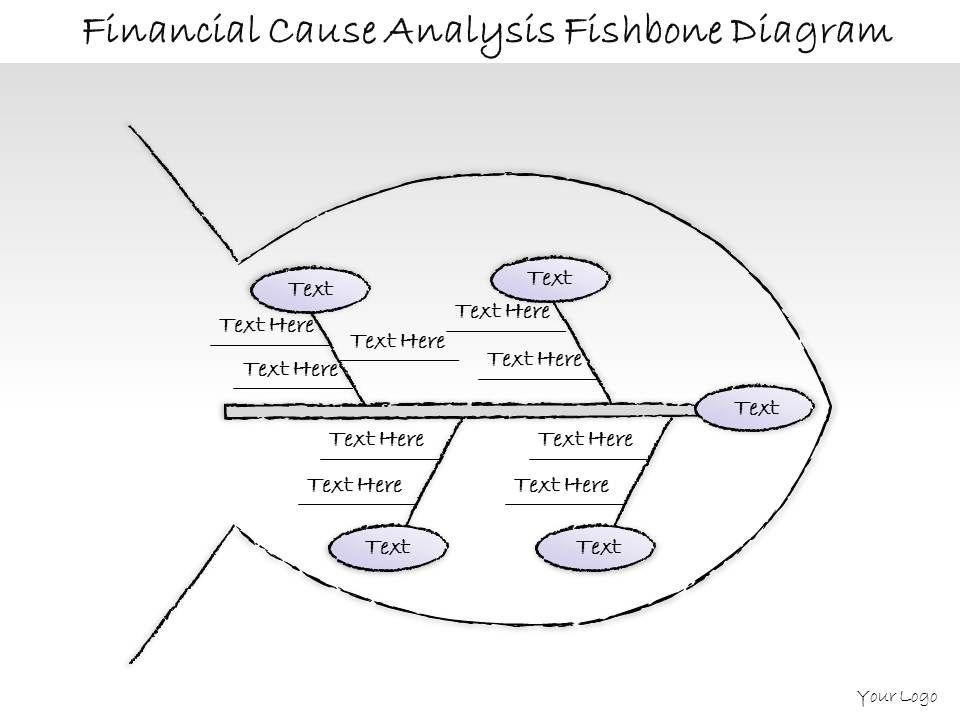 0414 Consulting Diagram Financial Cause Analysis Fishbone Diagram
