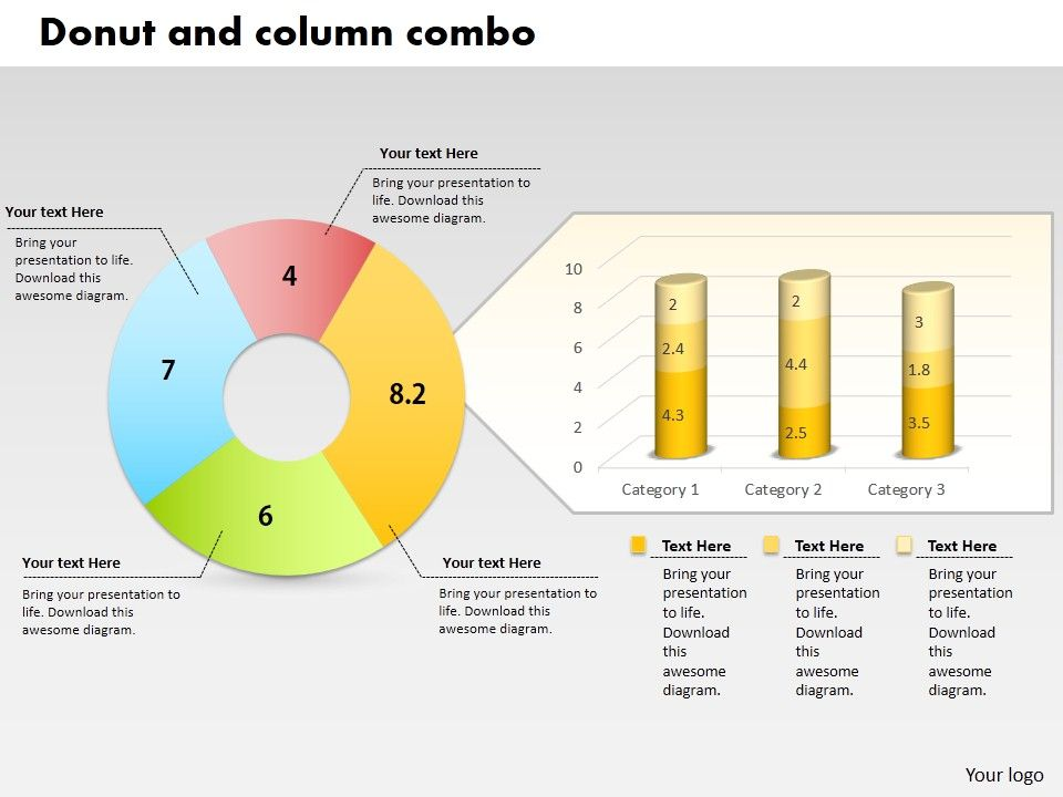 0414_donut_and_column_business_charts_powerpoint_graph_Slide01