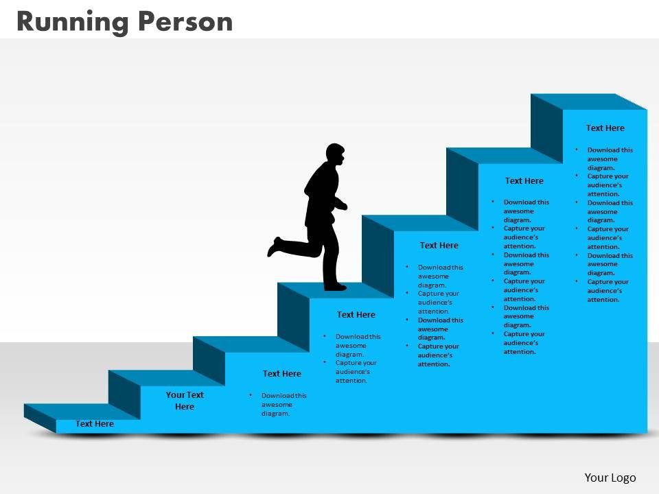 0414_running_person_on_column_chart_powerpoint_graph_Slide01