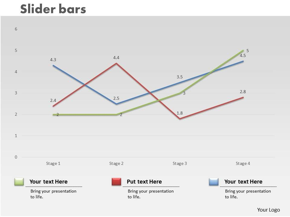 0414 Slider Line Chart Trend Series Powerpoint Graph | PowerPoint