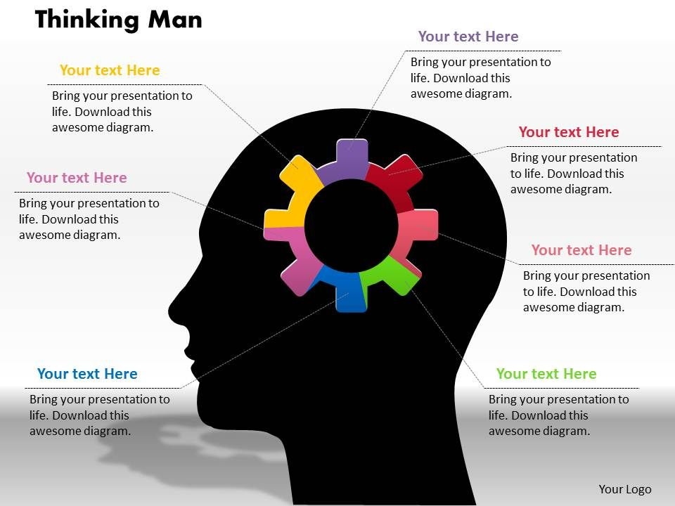 0414_thinking_man_gear_pie_chart_powerpoint_graph_Slide01
