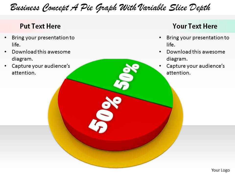 0514 50 50 percentage in pie chart image graphics for powerpoint