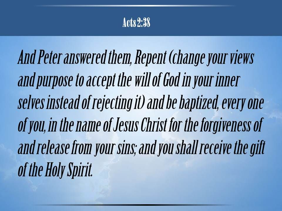 0514 Acts 238 The name of Jesus Christ PowerPoint Church Sermon