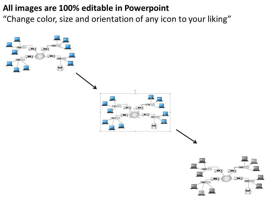 0514 Cisco Network Diagram Template Powerpoint Presentation