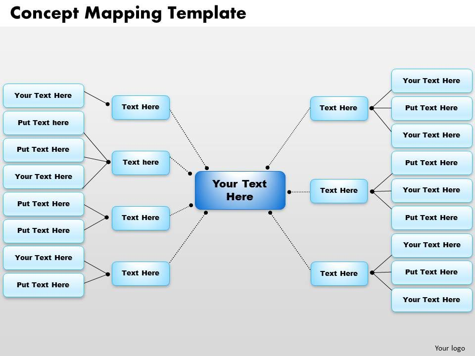 Concept Map Powerpoint Presentation  Powerpoint Slide