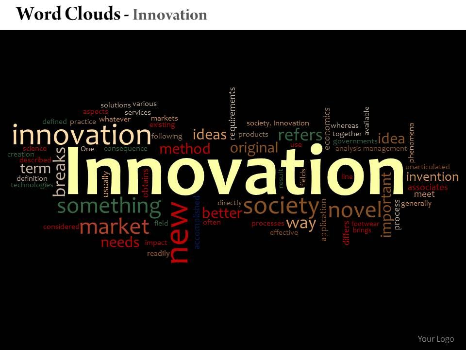 0514 Innovation Word Cloud Powerpoint Slide Template | Templates ...